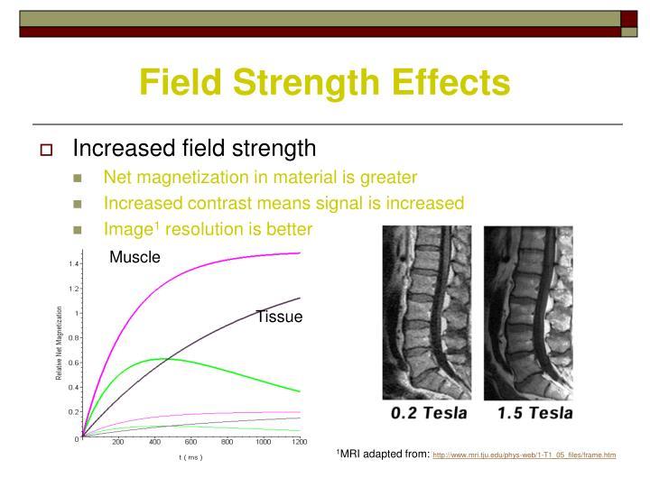 Field Strength Effects