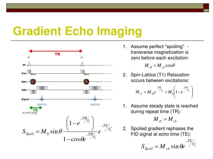 Gradient Echo Imaging
