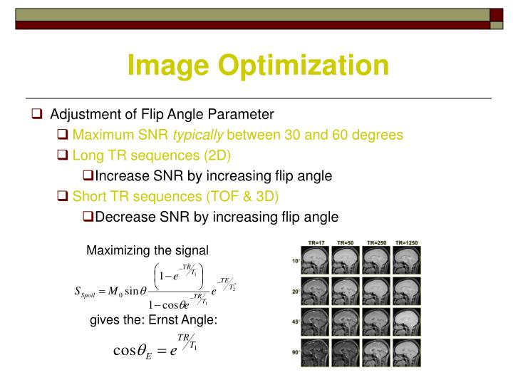 Maximizing the signal