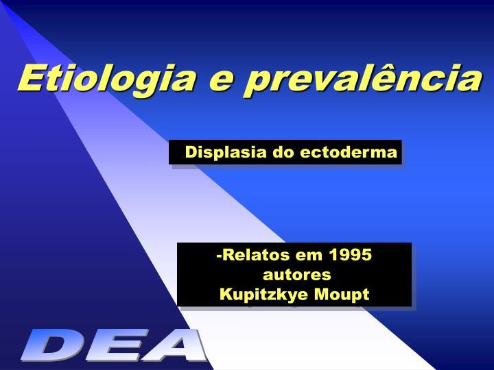 Etiologia e