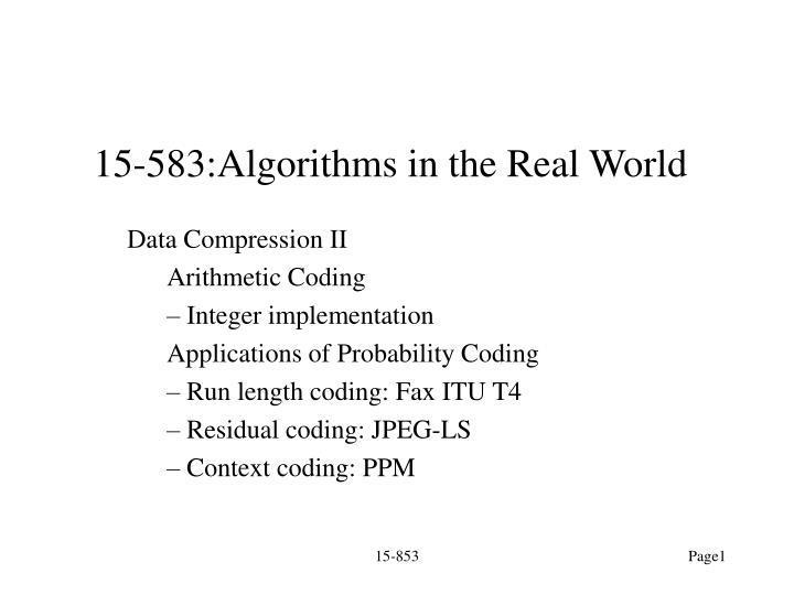 15 583 algorithms in the real world n.