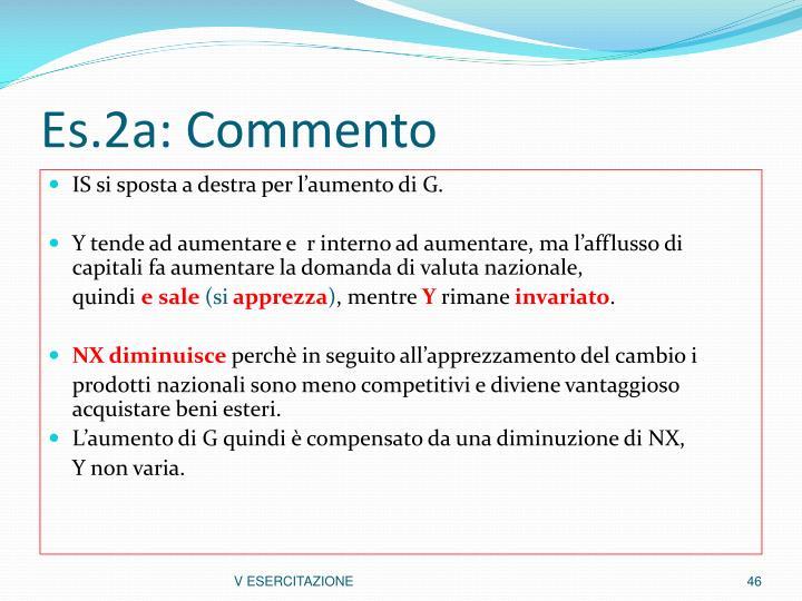 Es.2a: Commento