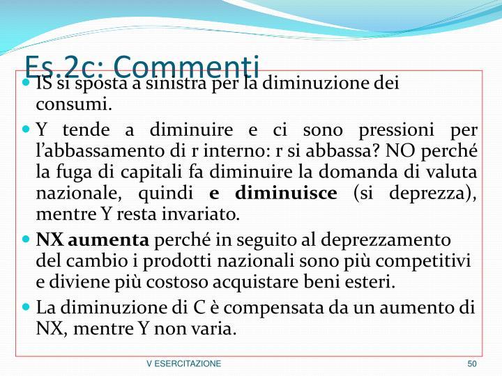 Es.2c: Commenti
