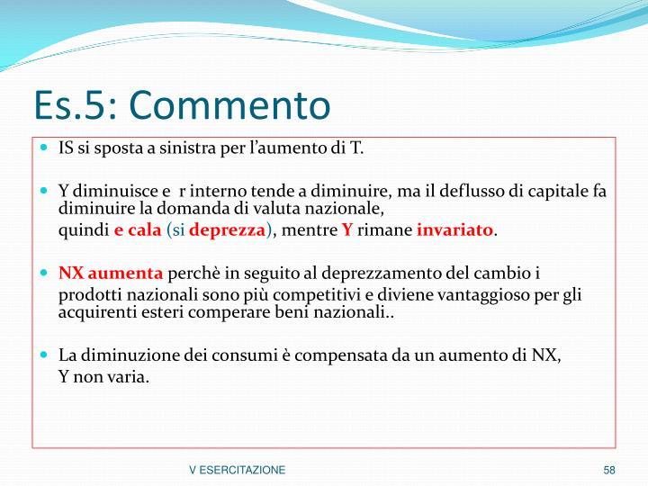 Es.5: Commento
