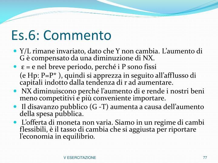 Es.6: Commento
