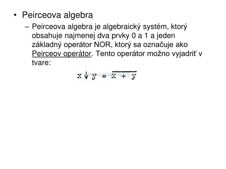 Peirceova algebra