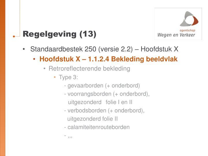 Regelgeving (13)