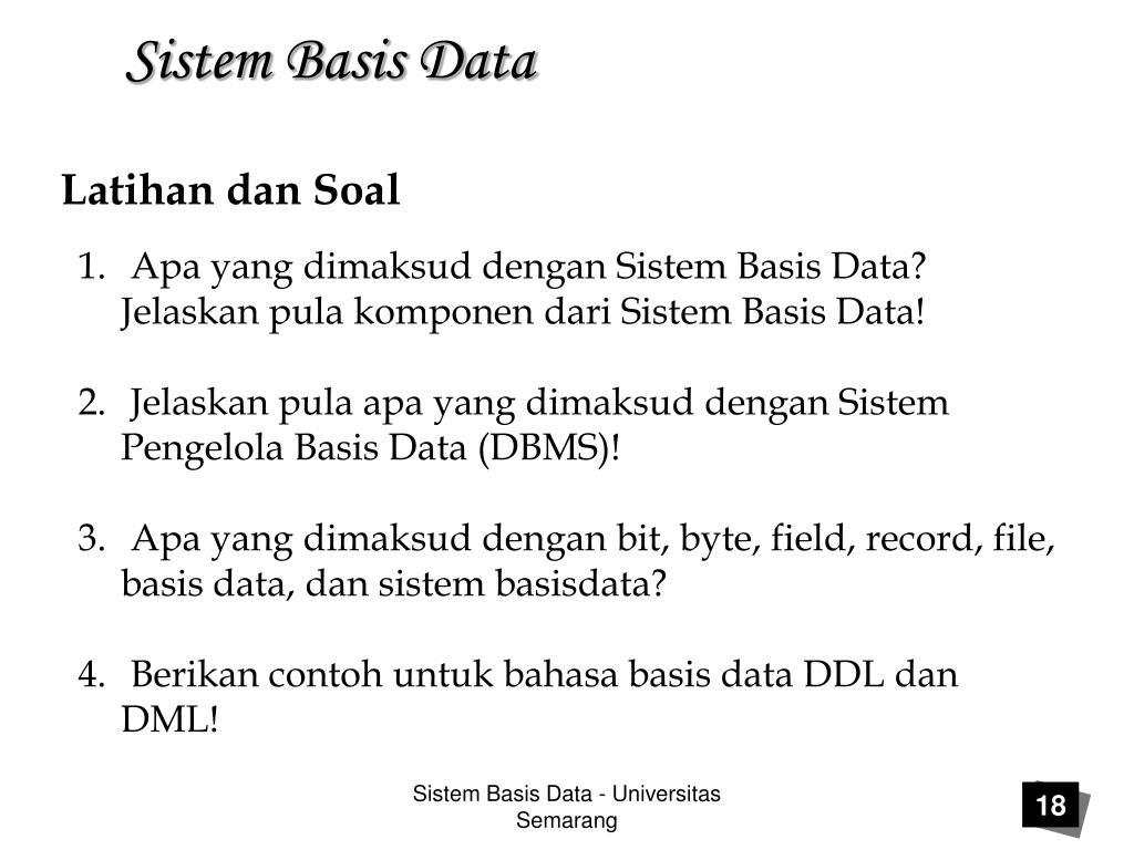 Apa Yang Dimaksud Dengan Sistem Basis Data - Sumber ...