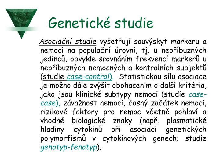 Genetické studie