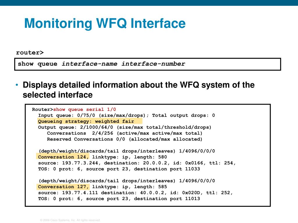 Output Drops On Wan Interface