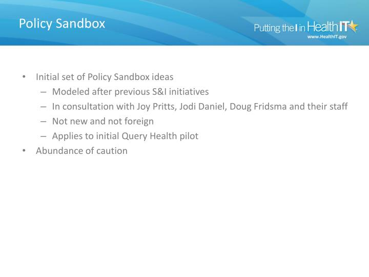 Policy Sandbox