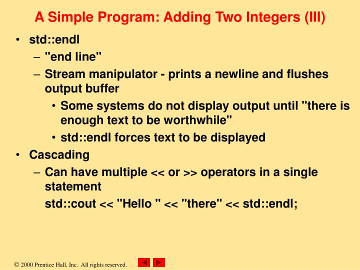 A Simple Program: Adding Two Integers (III)