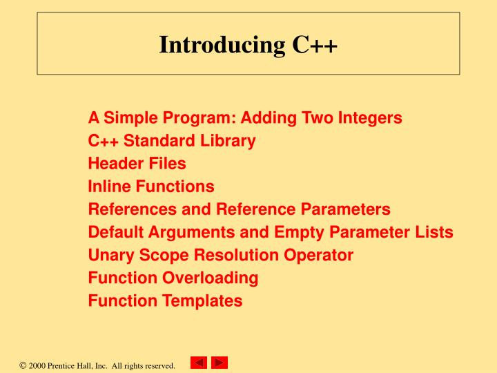 Introducing C++