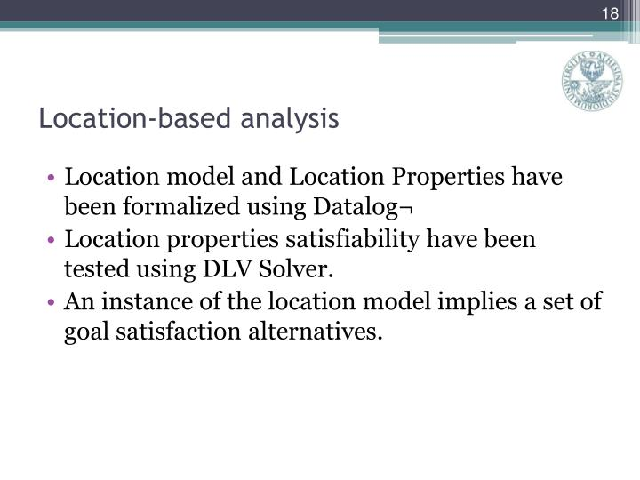 Location-based analysis