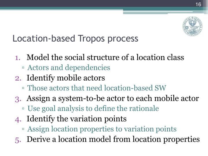 Location-based Tropos process