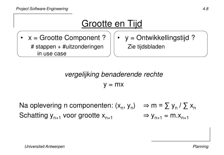 x = Grootte Component ?