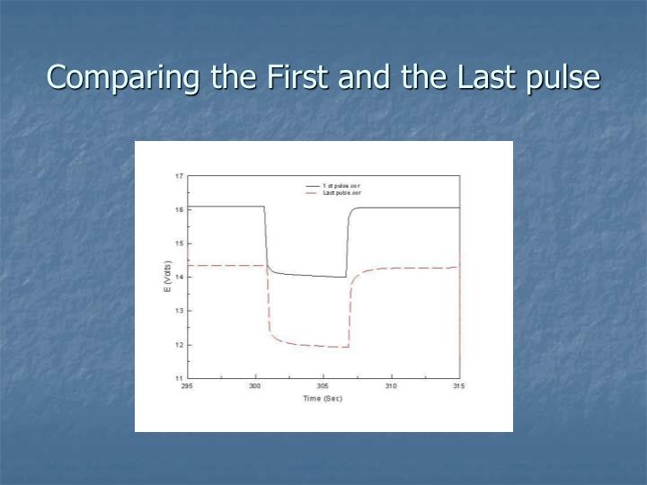 Comparing the First and the Last pulse