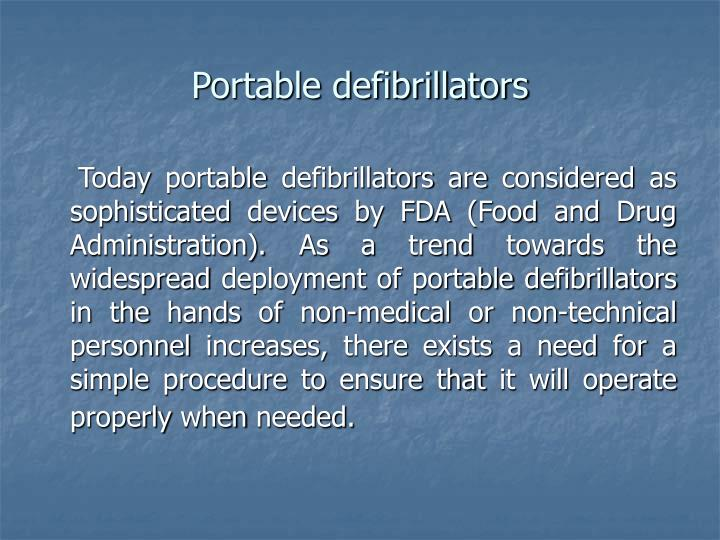 Portable defibrillators