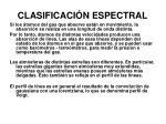 clasificaci n espectral