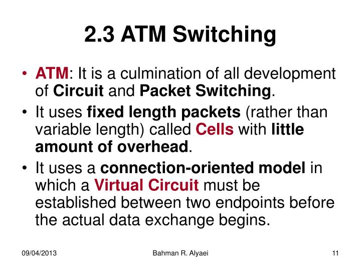 2.3 ATM Switching