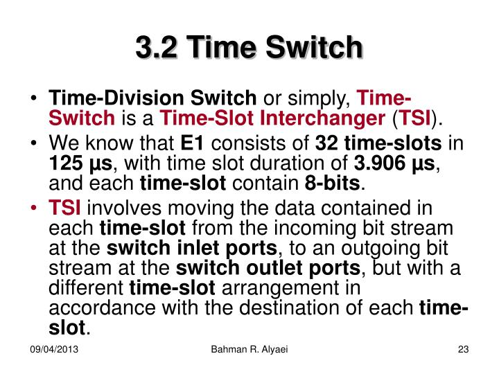 3.2 Time Switch