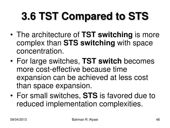 3.6 TST Compared to STS