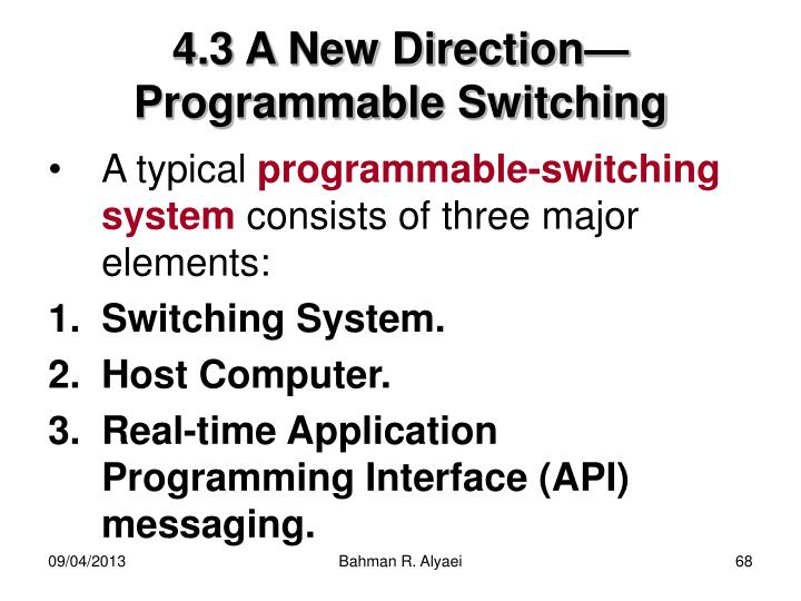 4.3 A New Direction—Programmable Switching