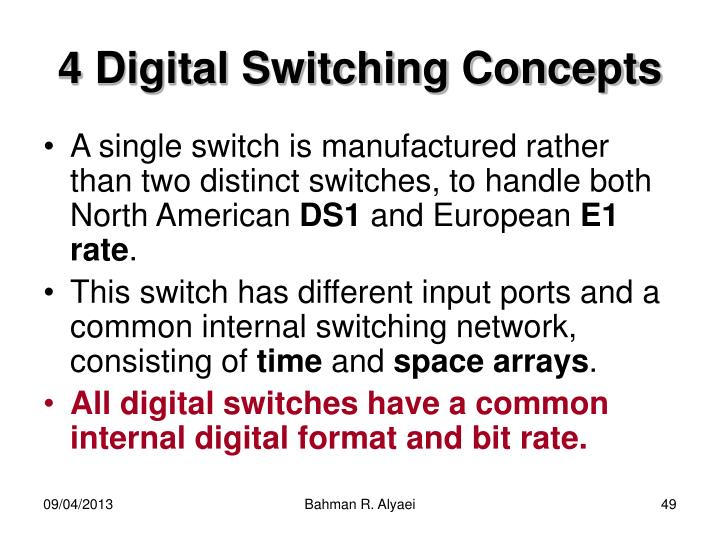 4 Digital Switching Concepts