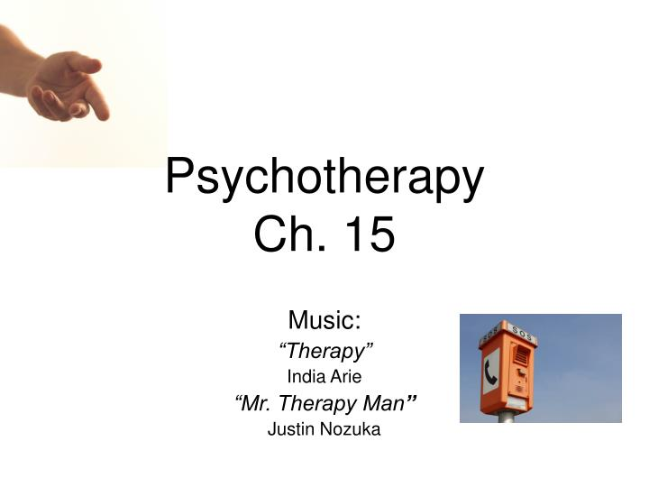 psychotherapy ch 15 n.