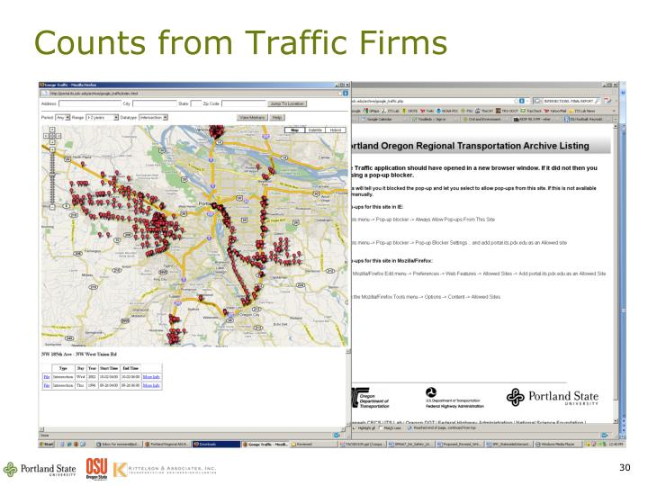 Counts from Traffic Firms