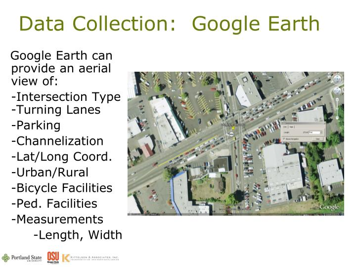 Data Collection:  Google Earth
