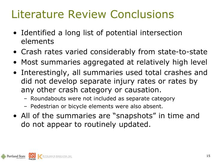 Literature Review Conclusions