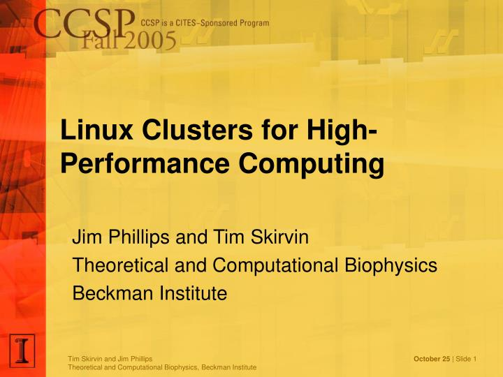 linux clusters for high performance computing