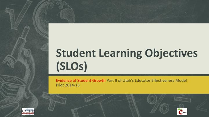 student learning objectives slos n.