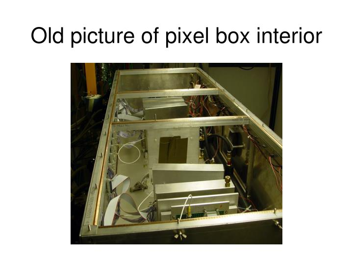 Old picture of pixel box interior