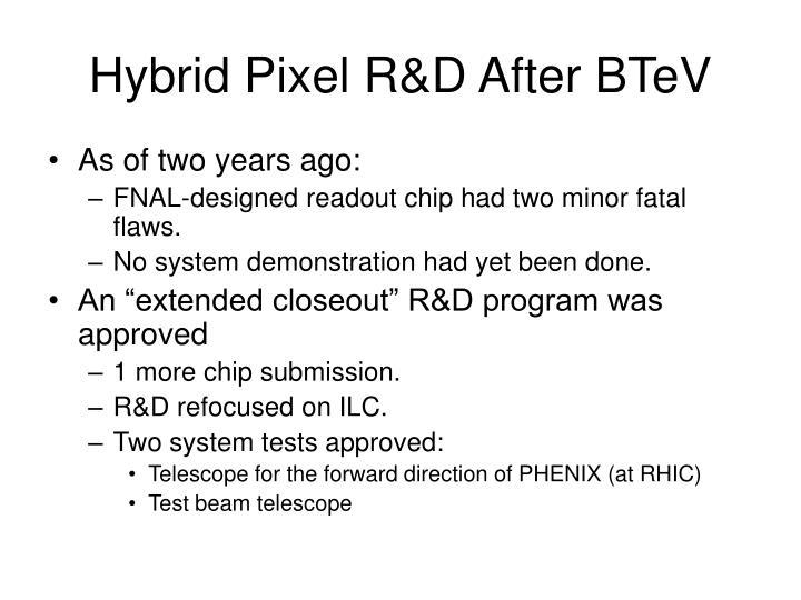 Hybrid Pixel R&D After BTeV
