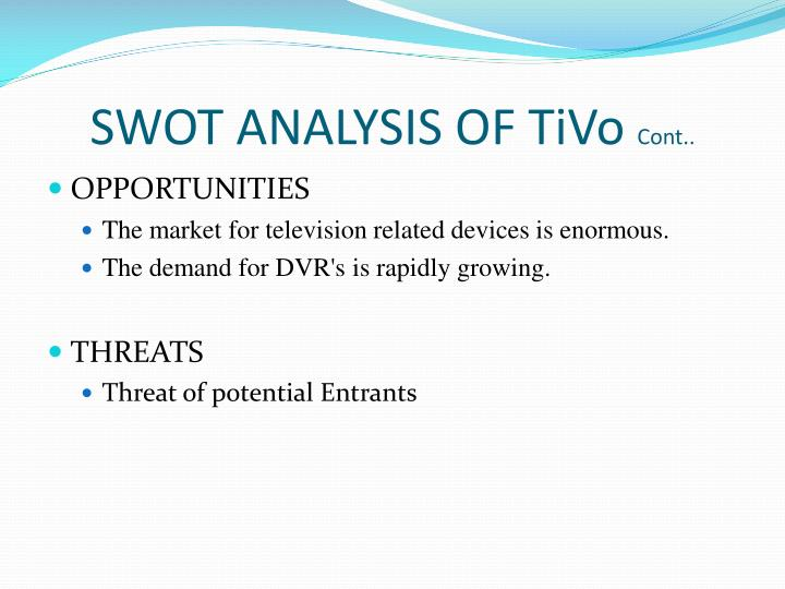 tivo swot Lg, panasonic, samsung, tivo, alcatel-lucent, comcast, dish network,   growth, business atmosphere, swot analysis, and most effectual.