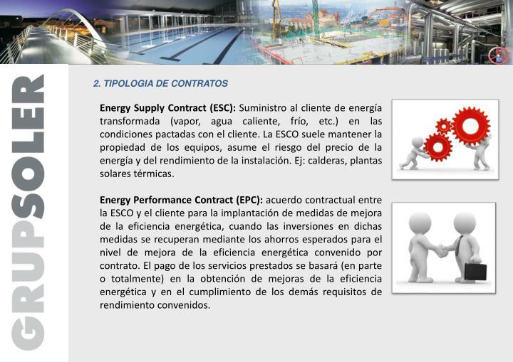 2. TIPOLOGIA DE CONTRATOS