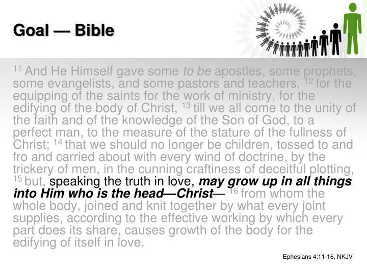 Goal — Bible