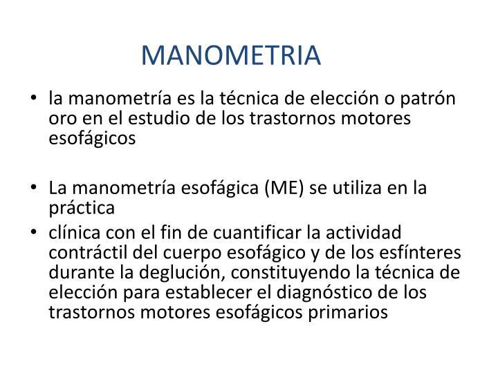 MANOMETRIA