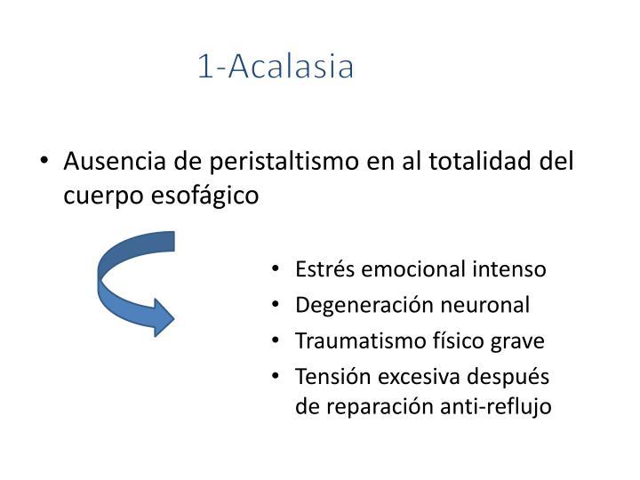 1-Acalasia