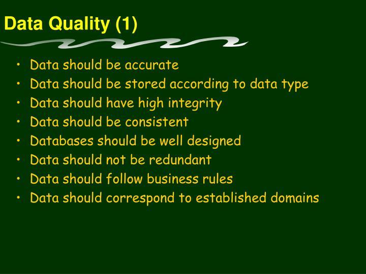 Data Quality (1)