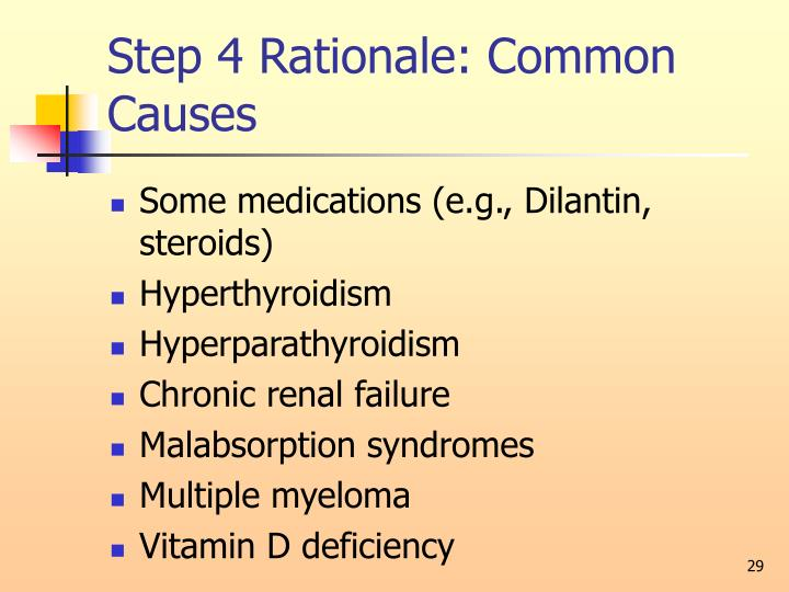 Step 4 Rationale: Common Causes