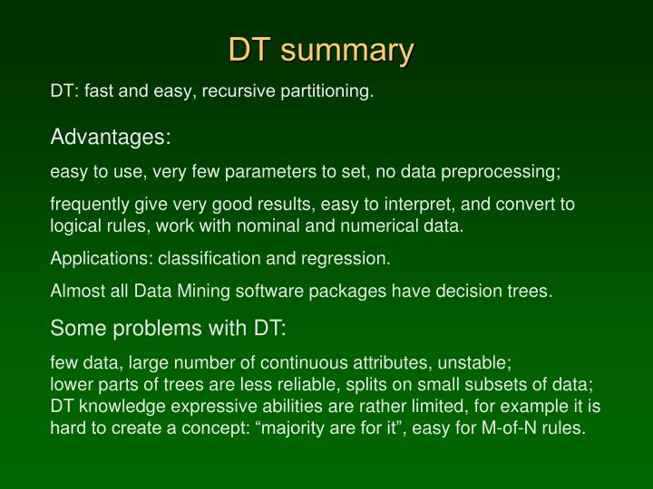DT summary
