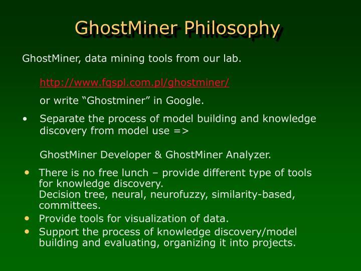 GhostMiner Philosophy