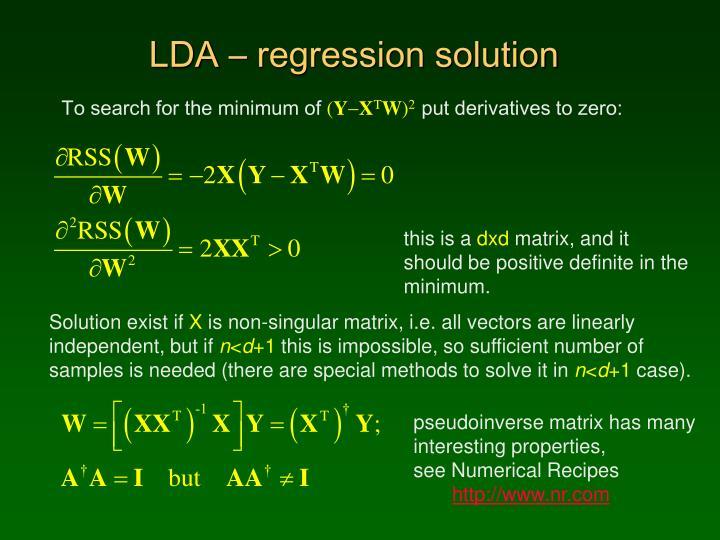 LDA – regression solution