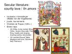 secular literature courtly love fin amors