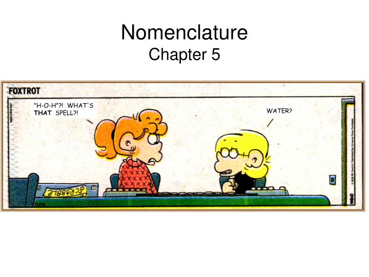 nomenclature chapter 5 n.