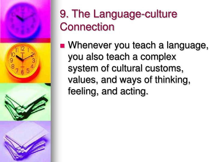 9. The Language-culture Connection