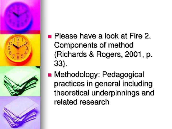 Please have a look at Fire 2. Components of method (Richards & Rogers, 2001, p. 33).
